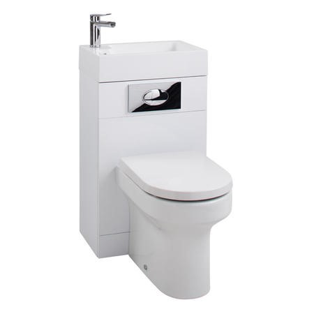 White Cloakroom Suite with Curve Toilet