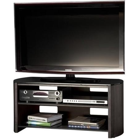 "Alphason FW1100-BV/B Finewoods Black Oak TV Stand for up to 50"" TVs"