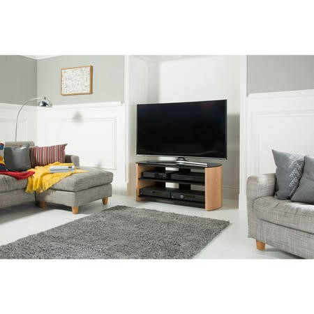 "Alphason FW1100-LO/B Finewoods TV Stand for up to 50"" TVs - Black"