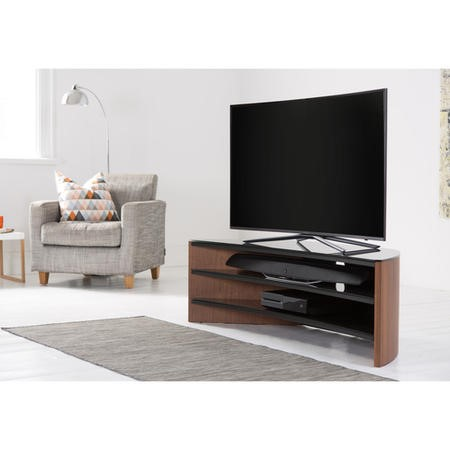 "Alphason FW1400C-W Finewoods Corner TV Stand for up to 60"" TVs - Walnut"