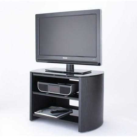 "Alphason FW750-BV/B Finewoods 3 Shelf TV Stand for up to 32"" TVs - Black/Oak"