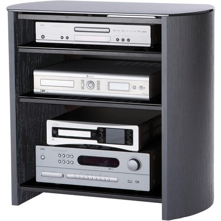 "Alphason FW750/4-BV/B Finewoods Black HiFi and TV Stand for up to 37"" TVs"