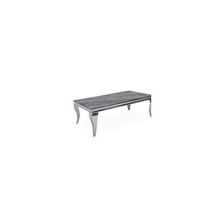 Louis Coffee Table with Grey Marble Effect Top