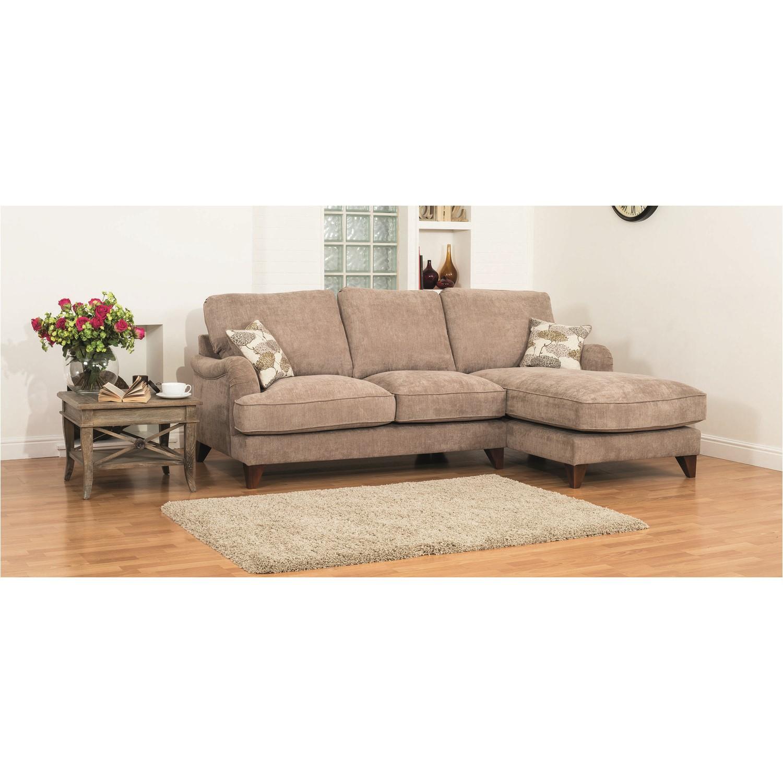 Gatsby Fabric Sectional Corner Sofa in Mink