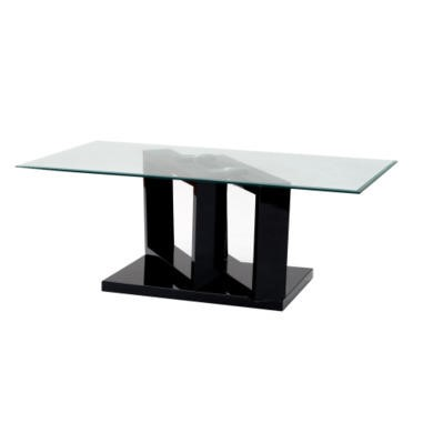 Wilkinson furniture geo black coffee table with glass top furniture123 Geo glass coffee table