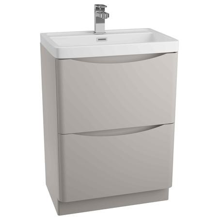 Grey Free Standing Bathroom Vanity Unit & Basin - W600 x H850mm -Oakland