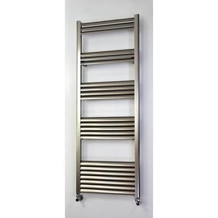 Accuro Korle Champagne Towel Radiator Brushed Aluminium - 1400 x 500mm