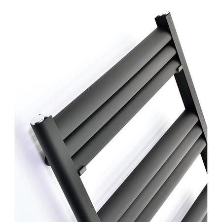 Accuro Korle Champagne Aluminium Towel Warmer in Anthracite - 1000mm x 500mm -  1555 BTUs