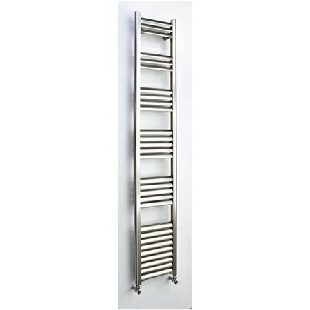 Accuro Korle Champagne Towel Radiator Brushed Aluminium - 1800 x 300mm