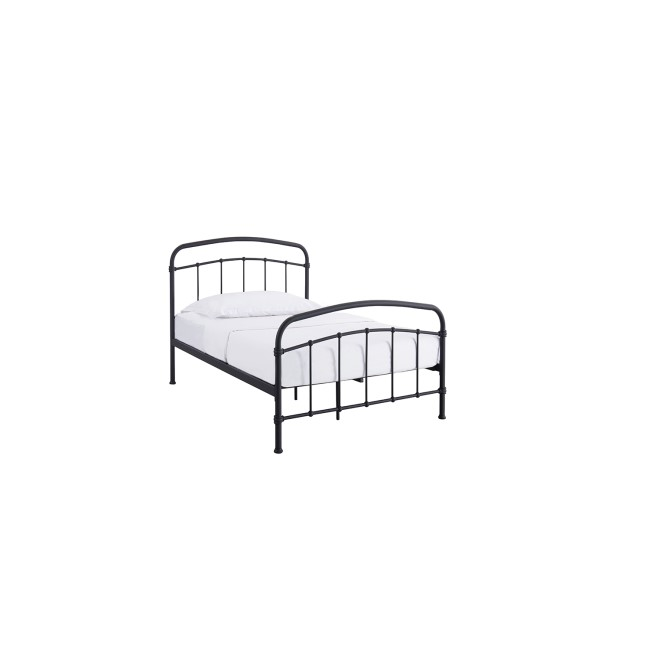 LPD Halston Black Single Bed Frame