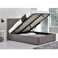 Birlea Hannover Double Upholstered Grey Ottoman Bed