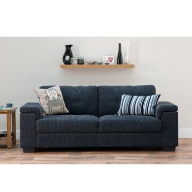 World Furniture Harlow 3 Seater Sofa In Grey Furniture123