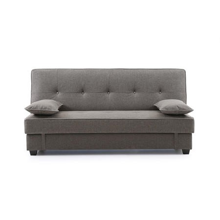 Kyoto Futons Harley Sofa Bed with Storage in Charcoal Fabric