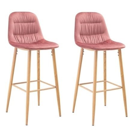 LPD Set of 2 Harper Barstools in Pink