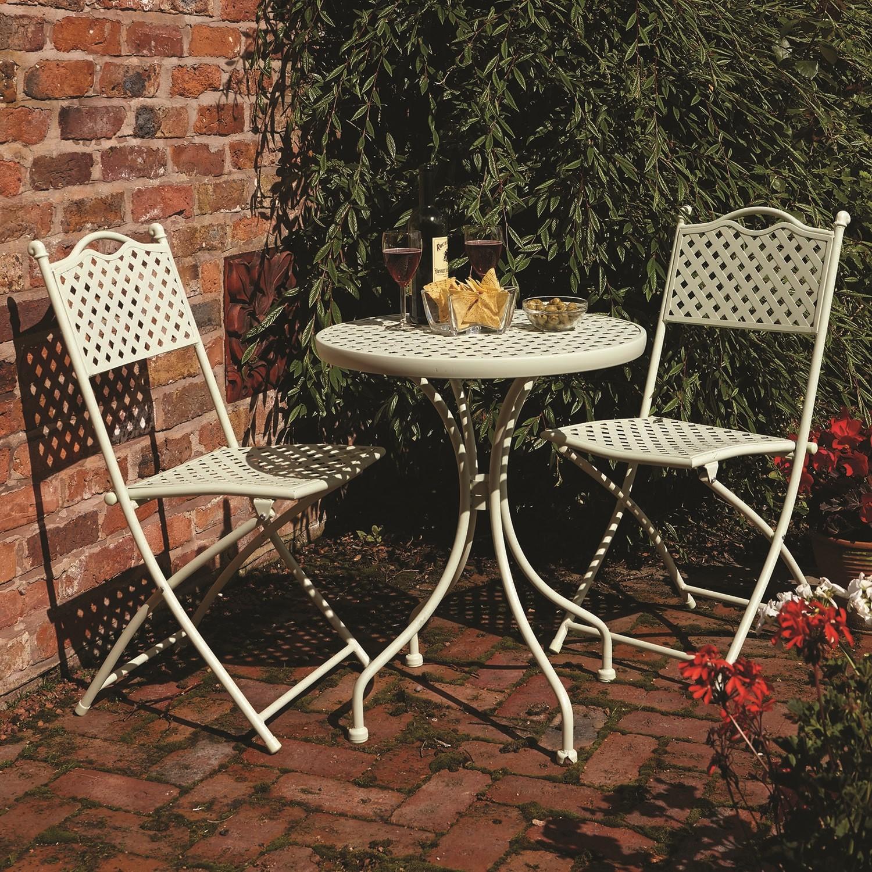 Rowlinson Havana Sage Green Metal Bistro Set - Garden Furniture
