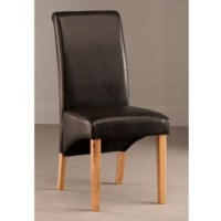 World Furniture Pair of Henley Dining Chairs in Dark Brown