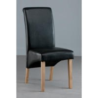 World Furniture Pair of Henley Dining Chairs in Black