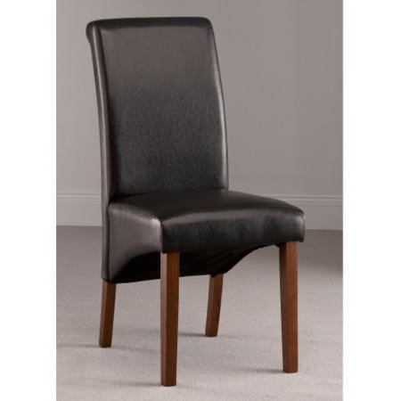World Furniture Henley Dark Brown Faux Leather Dining Chair