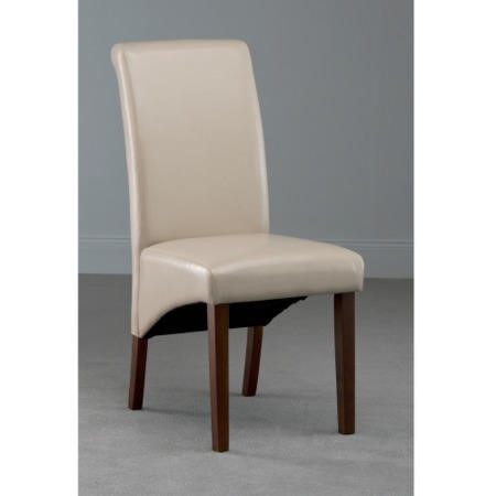 World Furniture Henley Dining Chair in Ivory with Dark Legs