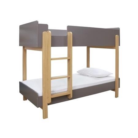 LPD Hero Bunk Bed in Grey and Oak