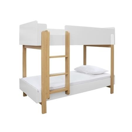 LPD Hero Bunk Bed in White and Oak