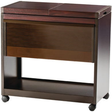 Image of Hostess HL6200DB Connoisseur - Metal and Wood Effect Trolley - Dark Brown