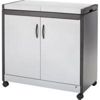 Hostess HL6232SV Connoisseur - Metal and Wood Effect Trolley - Silver