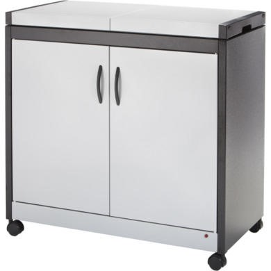 Hostess HL6232SV Connoisseur  Metal and Wood Effect Trolley  Silver