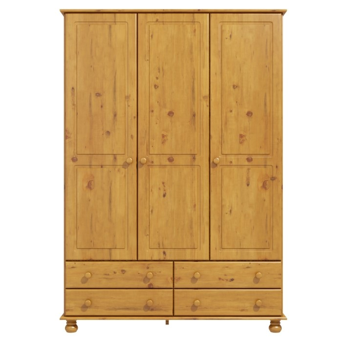 Hamilton 3 Door 4 Drawer Wardrobe In Pine Furniture123