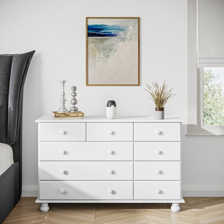 Hamilton 2+3+4 Wide Chest of Drawers in White