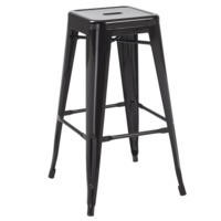 LPD Pair of Hoxton Bar Stools in Black