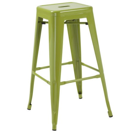 LPD Pair of Hoxton Bar Stool Pair In Green