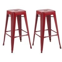LPD Pair of Hoxton Bar Stool in Red