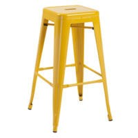 GRADE A1 - LPD Pair of Hoxton Bar Stools in Yellow