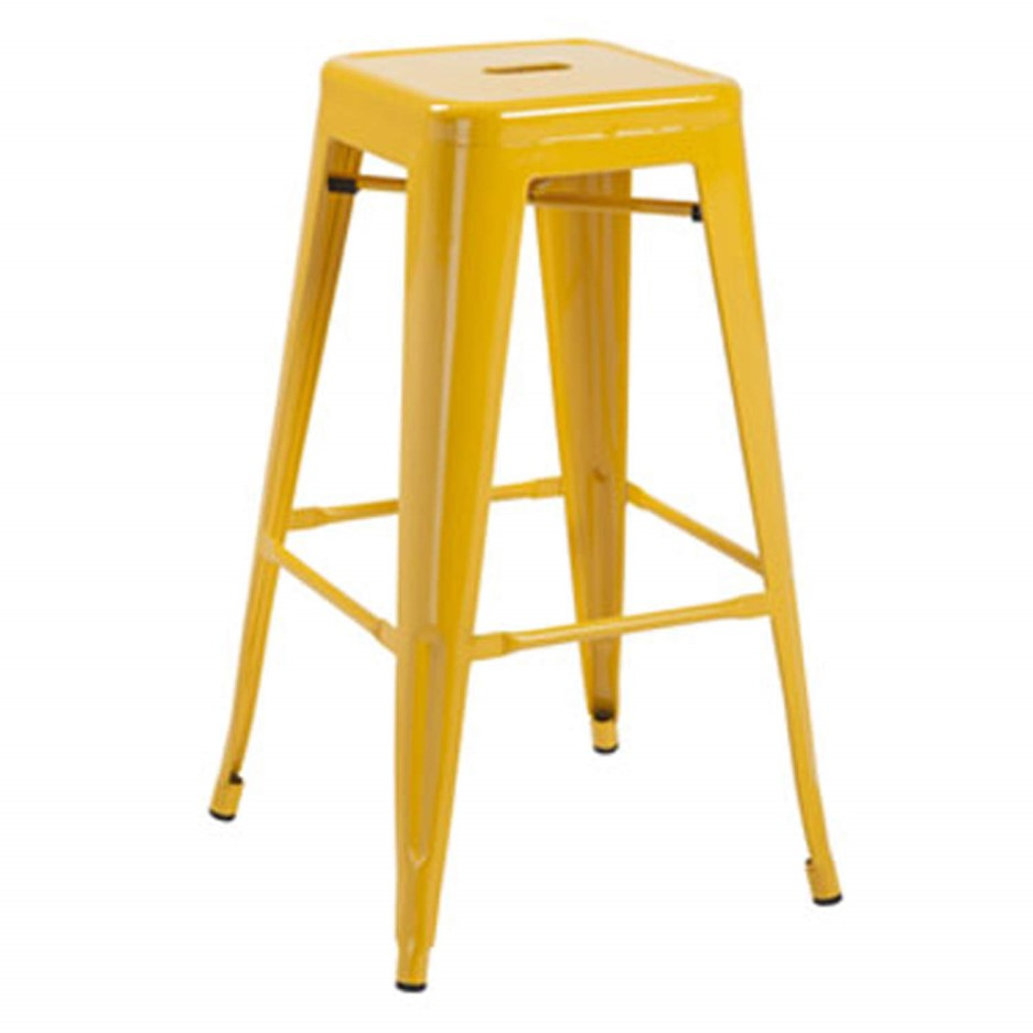Lpd Pair Of Hoxton Bar Stools In Yellow Furniture123