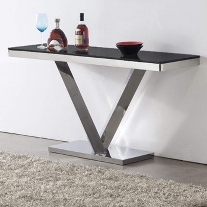Wilkinson Furniture Harper Stainless Steel Console Table