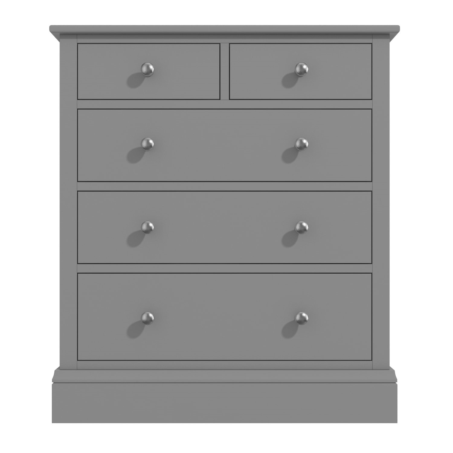 Harper Grey Solid Wood 2 3 Chest Of Drawers Furniture123