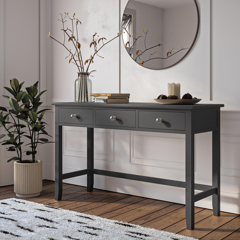 Harper Grey Solid Wood Dressing Table