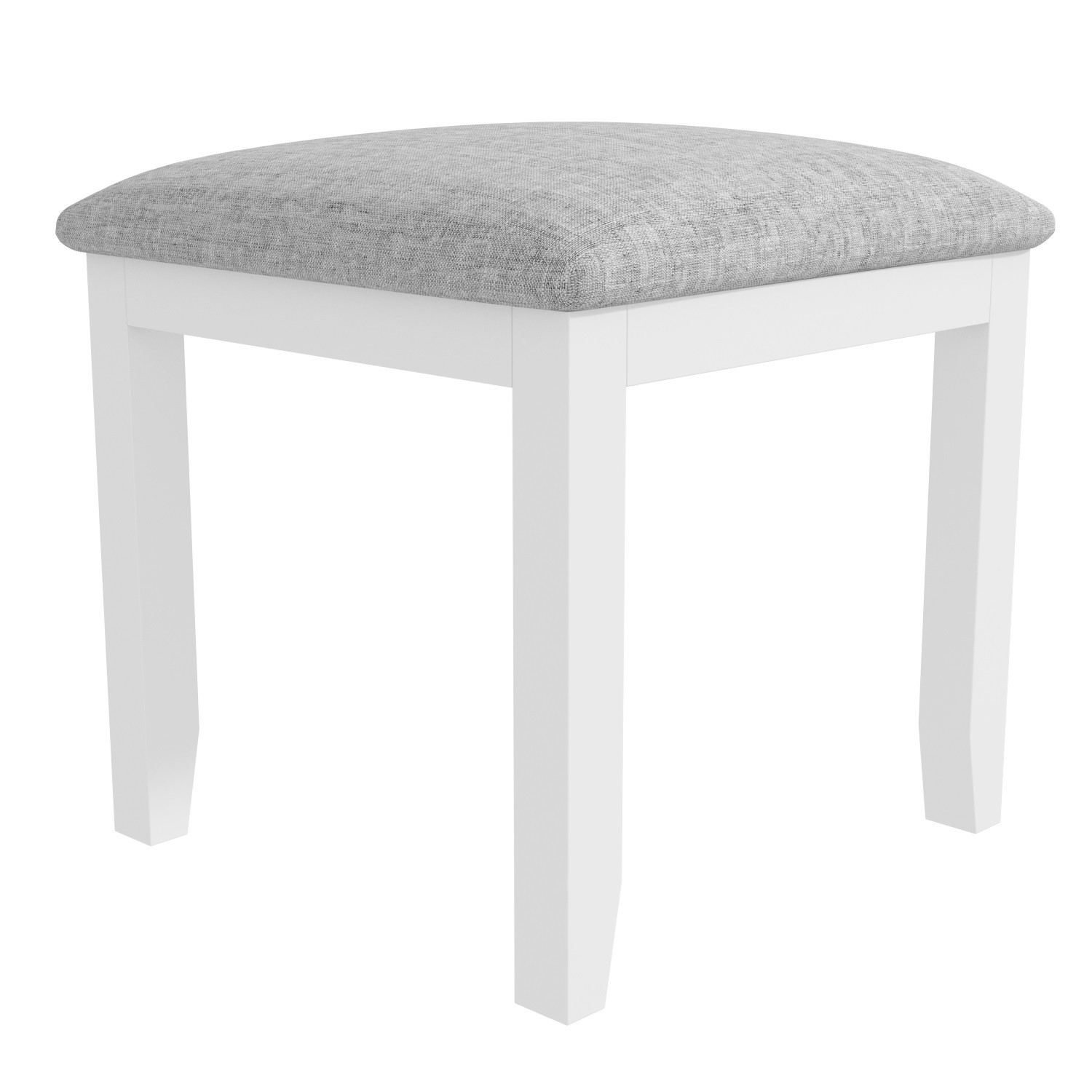 Harper White Solid Wood Dressing Table Stool | Furniture123