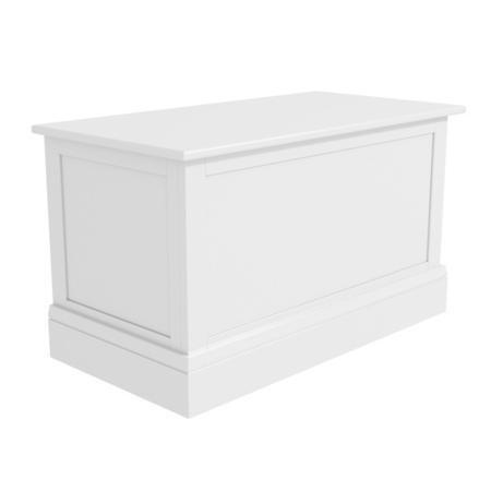 Harper White Solid Wood Blanket Box
