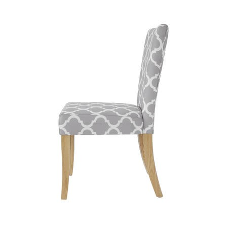 GRADE A1 - LPD Pair of Hugo Grey and White Fabic Chair