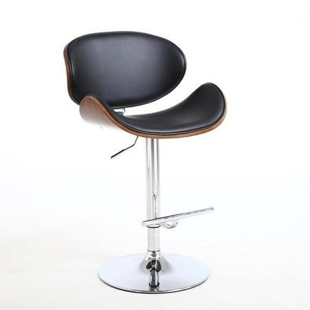 Havana Retro Walnut and Black Bar Stool