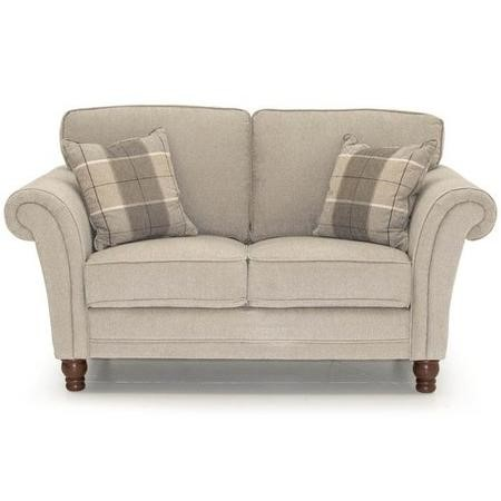 Helmsdale Pewter Fabric 2 Seater Sofa Includes 2