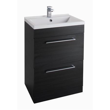 black free standing bathroom vanity unit without basin. Black Bedroom Furniture Sets. Home Design Ideas