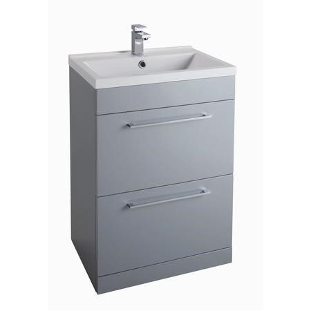 Grey Free Standing Bathroom Vanity Unit - Without Basin - W600mm