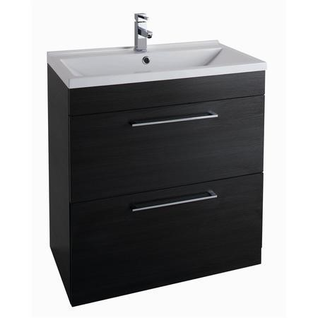 Black Free Standing Bathroom Vanity Unit - Without Basin - W800mm