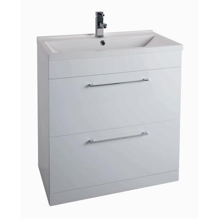 white free standing bathroom vanity unit without basin. Black Bedroom Furniture Sets. Home Design Ideas