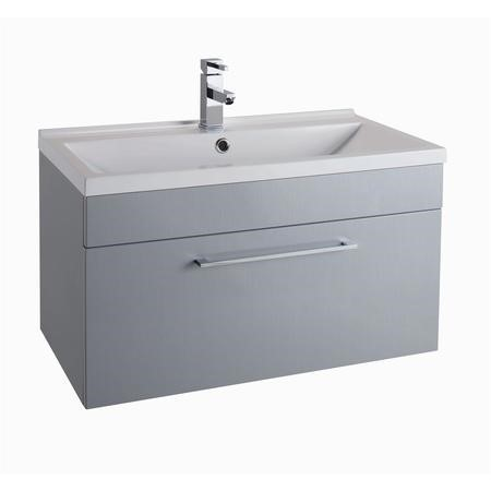 grey wall hung vanity unit without basin 800mm wide. Black Bedroom Furniture Sets. Home Design Ideas