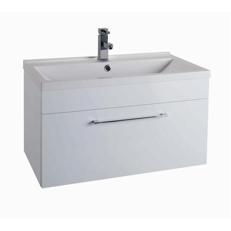 white wall hung bathroom vanity unit without basin. Black Bedroom Furniture Sets. Home Design Ideas