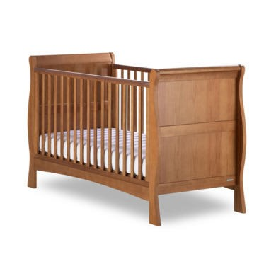 Izziwotnot Bailey Sleigh Cot Bed In Oak Furniture123
